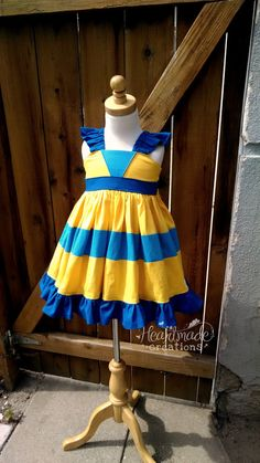 Flounder - Character Inspired Dress - Little Mermaid Friends - Sizes 12/18months through 8 on Etsy, $70.00