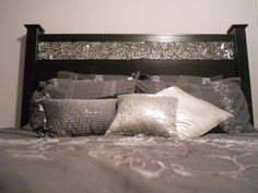 Another cool headboard idea that would likely be easy to DIY