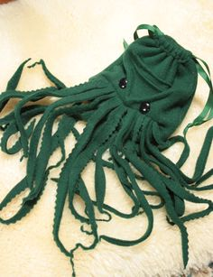 KRAKEN dice bag- wristlet purse - electronic gadget case- DnD Warhammer-Magic the Gathering Davy Jones Custom made for you. $25.00, via Etsy.