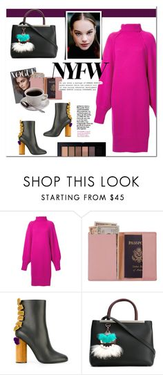 """""""NY(FW) state of mind"""" by living-on-the-catwalk ❤ liked on Polyvore featuring G.V.G.V., Royce Leather, Marco de Vincenzo, Fendi, Smashbox, StreetStyle, NYFW, Winter, sweaterweather and winterfashion"""