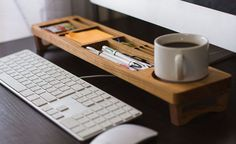 Desk Organization Ideas - 6 Easy Ways You Can Organize Your Desk To Make It More Inviting // Use an desk caddy or organizer to keep everything tidy.