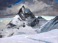 Charles-Henri Contencin (1898 - 1955) - The West face of the Matterhorn seen from the Stockli Glacier