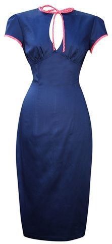 50s Retro Pinup Pencil Wiggle Dress 20130305