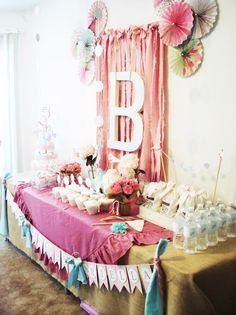 Karas Party Ideas Vintage Chic 1st Birthday Party via