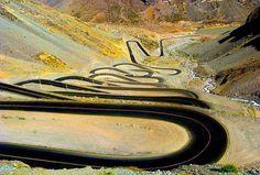 El paso de los caracoles. Chile-Argentina. ¿Os gustaría rodar por ahí?
