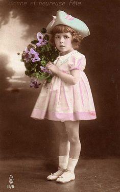 Vintage Postcard ~ Little Girl | chicks57 | Flickr