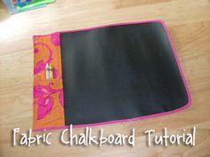 Fabric Chalkboard tutorial. Genious idea for shoe boxes!
