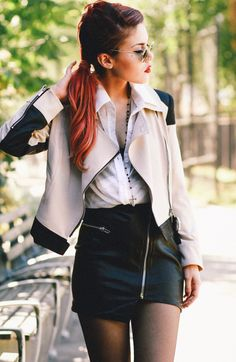 Love this whole outfit and the hair color