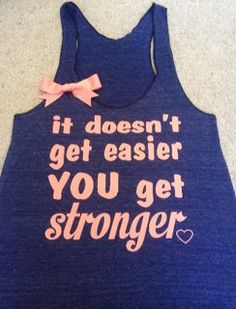It Doesn't Get Easier Racerback Tank. Etsy dot com ruffles with love shop. size M $25