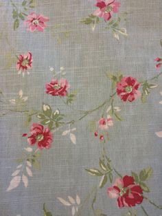Dark Duck Egg Floral on dwfabric.co.uk (£18/m)