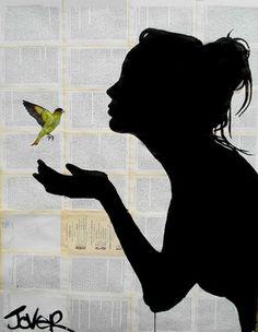 "Saatchi Online Artist Loui Jover; Drawing, ""freedom"" #art"