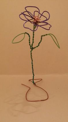 One of my sculpted flowers, painted