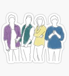 One Direction Outline Pegatina