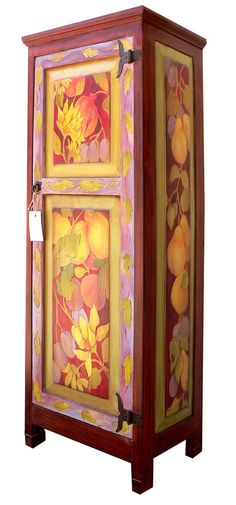 Handpainted furniture by Wendy McKellar...more art to see on the Studio Tour on March 23-24-25 in Three Rivers.