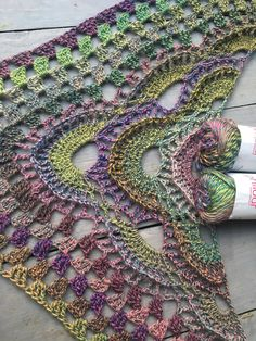 Update I have updated the original shawl pattern to include two columns and single step-by-step photos** - Salvabrani Crochet Shawls And Wraps, Knitted Shawls, Crochet Scarves, Crochet Clothes, Crochet Art, Crochet Crafts, Crochet Stitches, Crochet Designs, Crochet Patterns