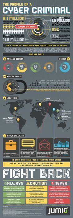 Profile of a #cyber criminal #infografic #business #work #advice #marketing #inspiration #socialmedia