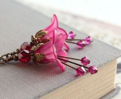 Hey, I found this really awesome Etsy listing at https://www.etsy.com/listing/117586355/magenta-purple-earrings-dark-fuchsia