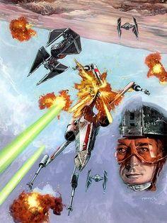 X-wing rated action. Star Wars Film, Star Wars Day, Star Wars Poster, Star Trek, Star Wars Memorabilia, Wall Candy, Star Wars Comics, Star Wars Wallpaper, Star Wars Ships