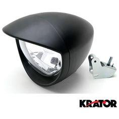 Krator® Motorcycle Custom Black Headlight Head Light For Kawasaki Vulcan Classic Custom 900...