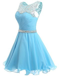 b32baf09e7daa2 Dresstells® Short Chiffon Open Back Prom Dress With Beading Evening Party  Dress Pink Size 6