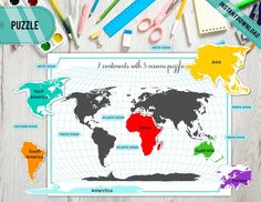 USA Map Interactive Puzzle Printable USA map Puzzle | Etsy Preschool Special Education, Preschool Themes, Preschool Printables, Map Activities, Activities For Kids, Continents And Oceans, Map Puzzle, Tent Cards, Blue And Silver