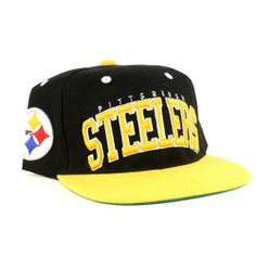 0ece54be098 Pittsburgh Steelers NFL 2 Tone Flatbill Snapback Hat by NFL.  19.99. Raised  Embroider on