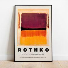 Mark Rothko, Rothko Art, Matisse Kunst, Matisse Art, Monet Exhibition, Art Exhibition Posters, Canvas Wall Art, Wall Art Prints, Museum Poster