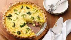 Smoked turkey can be used in place of the ham in this traditional quiche recipe.
