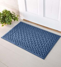 Waterhog™ Cable Weave | Doormats | Waterhog mats keep your floors clean and dry. Waterhogs feature a unique ridged surface to remove dirt and moisture from shoes and boots. Waterhog doormats are low profile, so they're great for doorways and entryways.