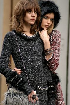 Abbey Lee Kershaw & Freja Beha Erichsen shooting the Chanel Winter 2010 Campaign