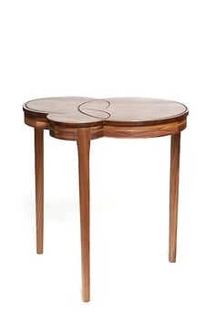Crop Circles End Table by Matt Hutton: Wood End Table available at www.artfulhome.com