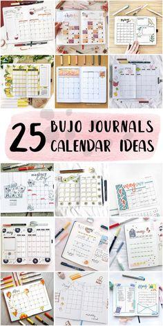Vintage Bullet Journal Monthly Calendar Collection For Work - Bullet Journal Beginning #bulletjournaltemplate #dailyspreadbulletjournal #bulletjournaldrawings