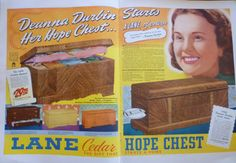 You know how when you were a kid you went to school and stuff, and it sort of sucked, and you spent all day wishing you could maybe not do that? Well, what if instead you spent your youth s… Retro Ads, Vintage Advertisements, Vintage Ads, Vintage Posters, Lane Furniture, Furniture Ads, Refinished Furniture, Furniture Refinishing, Wood Chest