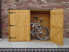 Garage, Bike Storage Shed: Save Your Bike Safely: Bike Storage Shed Bicycle Storage Shed, Motorcycle Storage Shed, Outdoor Bike Storage, Bike Shed, Storage Shed Plans, Storage Ideas, Outdoor Toys, Garage Storage, Garage Velo