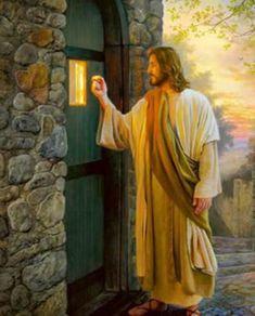 Jesus Knocking Your Door. Images Du Christ, Pictures Of Jesus Christ, Jesus Is Risen, God Jesus, Bible Art, Bible Scriptures, Greg Olsen Art, Image Jesus, Jesus Artwork
