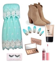 """Photoshoot outfit #2"" by victoriapond on Polyvore featuring JustFab, Urban Decay, Boohoo and Charlotte Russe"