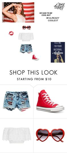 """""""National anthem by Lana del Rey"""" by littlesweetheart123 ❤ liked on Polyvore featuring Miss Me, Converse and Miguelina"""