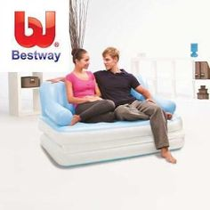 Bestway Inflatable Multi Functional Airbed Chair Sofa Couch Tv Camping