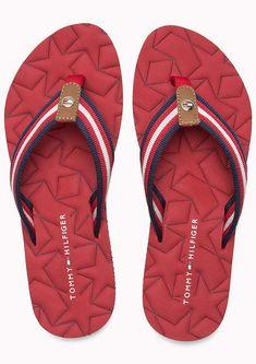 205f75dcdf5b Tommy Hilfiger červené žabky Comfort Low Beach Sandal Tango Red