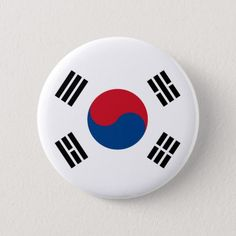 Shop South Korea High quality Flag Pinback Button created by representmycountry. South Korea Flag, Korean Flag, Flag Art, Flag Colors, Custom Buttons, Chinese Culture, National Flag, Birthday Party Themes, Red And Blue