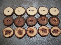 Wooden Button Variety Pack 15 150175 Inches by PymatuningCrafts, $12.00