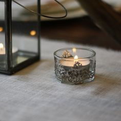 Mini Elegant Glass and Silver Tea Light Holders - Available from Candelabra Centerpiece, Silver Candelabra, Silver Centerpiece, Romantic Weddings, Elegant Wedding, Entrance Table, Table Set Up, Clear Glass Vases, Tea Light Holder