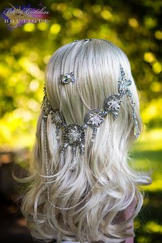 The Silver Circle Rose Circlet by BlingGoddessBoutique on Etsy, $175.00