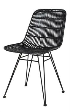 Products details - Furniture - rotan dining chair black