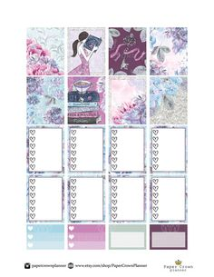 SECRET GARDEN Weekly Kit/Printable Planner Stickers/Planner Stickers for  use with Erin Condren Life Planner/Weekly Sticker Kit/Silhouette