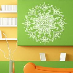 Mandala Flower Ornament Design Wall Sticker Vinyl Mural Decal Home House Apartment Art Decor FREE SHIPPING L109