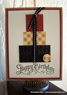 .....Sweet Paperbliss.....: Masculine Cards for National Card Day