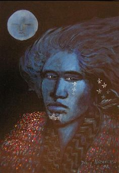 Moon Daughter by Darcy Nicholas kp Early American, American Art, Modern Indian Art, Maori Art, Buy Art Online, Art Auction, New Zealand, Abstract Art, Culture