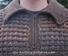 ABC Knitting Patterns - Noro Yarn Men Zipper Sweater