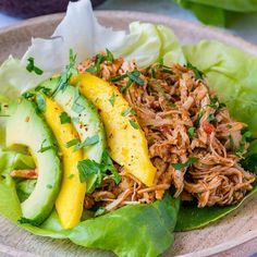 """2,879 Likes, 29 Comments - Rachel Maser (@cleanfoodcrush) on Instagram: """"Crock-Pot Jamaican Pulled Chicken Lettuce Wraps  {You've gotta add these tangy wraps to your meal…"""""""
